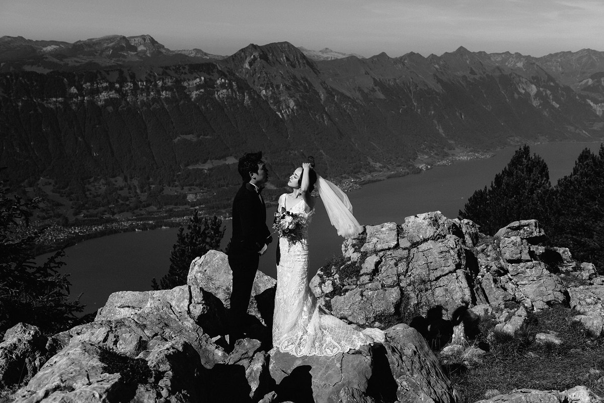 elopement in the swiss alps wedding photography