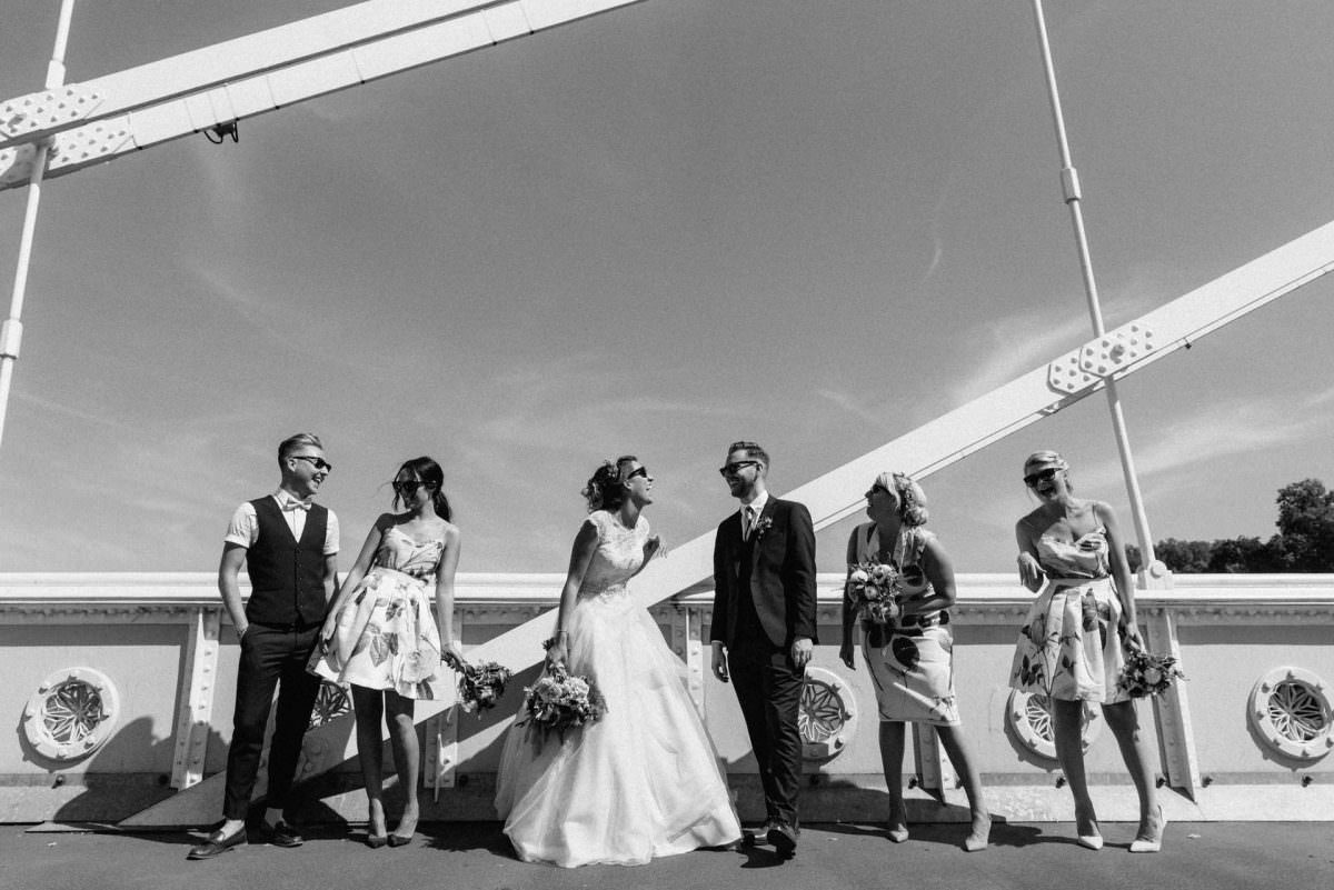 wedding group photography in Chelsea London bride groom and bride tribe. Wedding Photography London