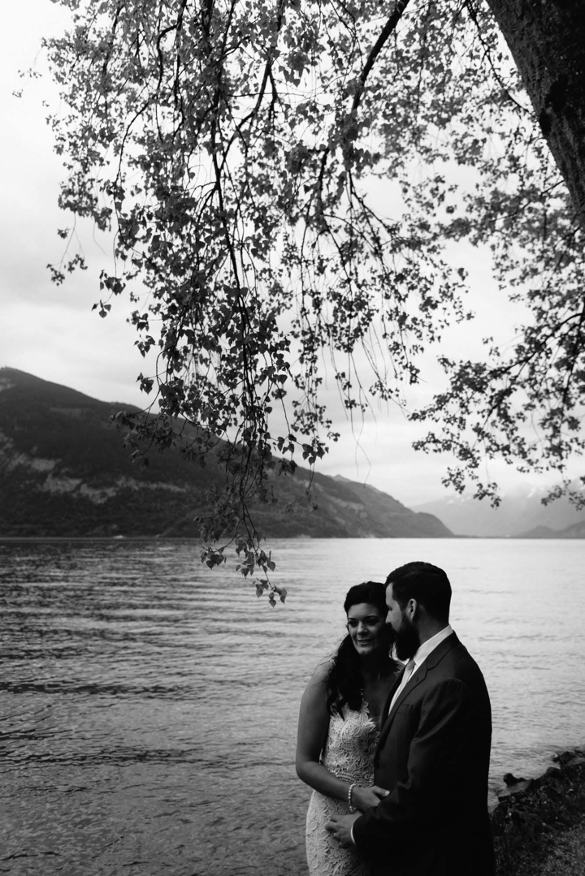Lake Brienz Switzerland mountain elopement